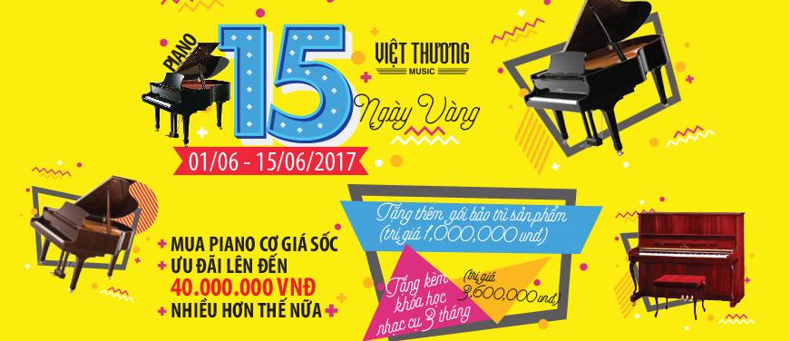Piano 15 ngày vàng - Mua Piano tặng khóa học nhạc