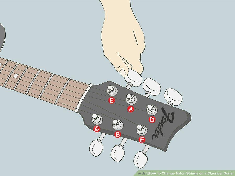 Hướng dẫn thay dây Nylon trên đàn Guitar Classical
