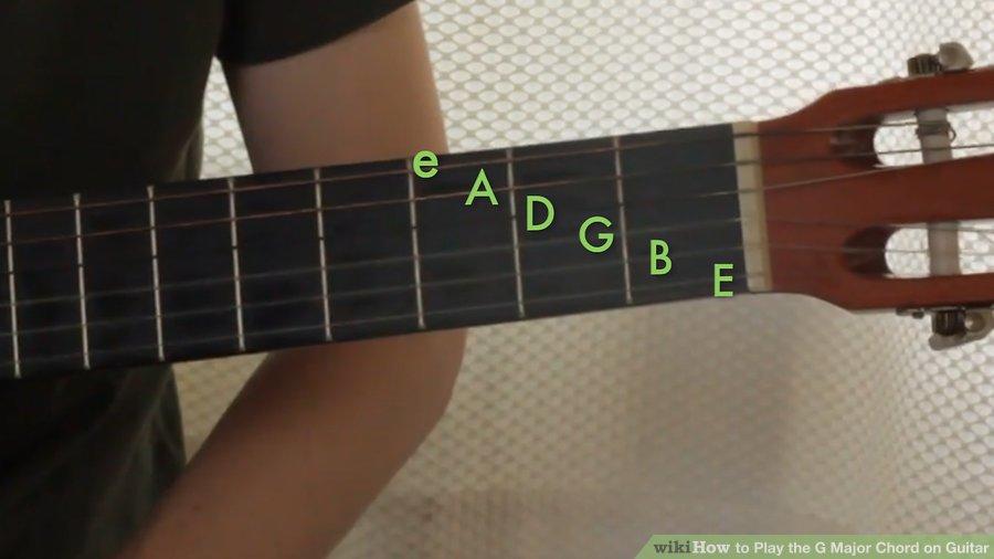 Cách chơi hợp âm G trưởng bằng Guitar