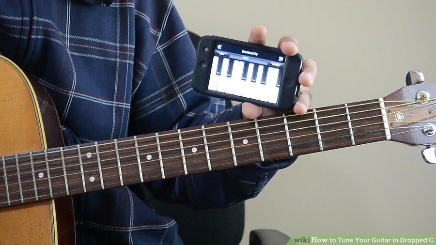 Cách điều chỉnh dây đàn Guitar về Drop C