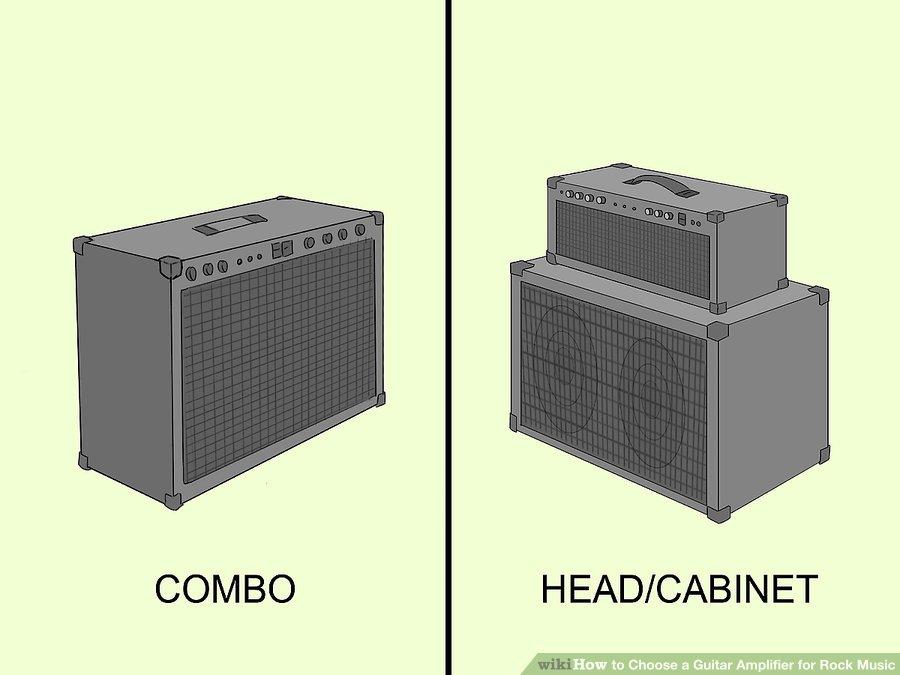 Tìm hiểu các loại amply: Có hai loại chính cấu tạo nên bộ khuếch đại guitar: combo và đầu / tủ loa