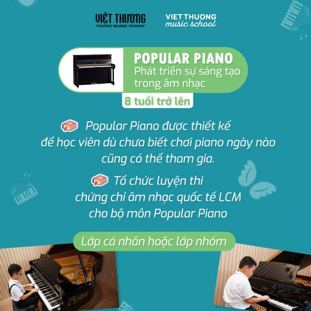 chương trình học đàn piano Popular tại VTMS
