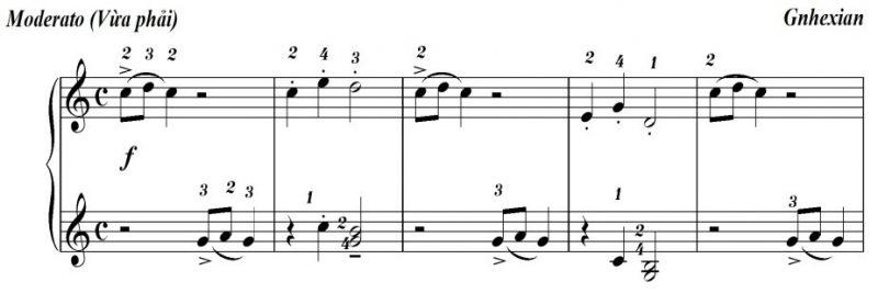 Học kỹ thuật Staccato trên đàn piano