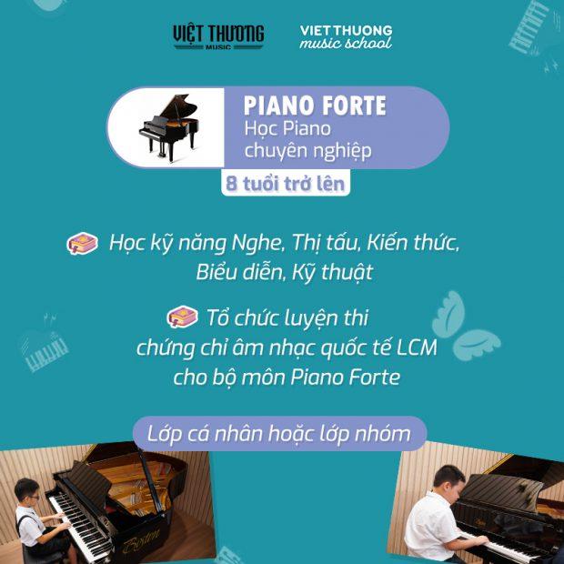 khóa học đàn piano cho người muốn theo con đường âm nhạc