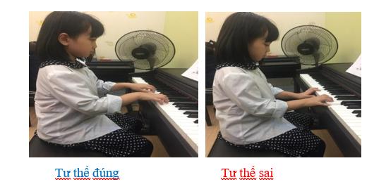 tư thế ngồi đàn piano