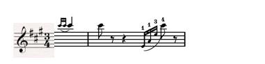 hợp âm a dur bài nhạc rừng