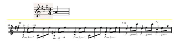hợp âm theo chiều ngang