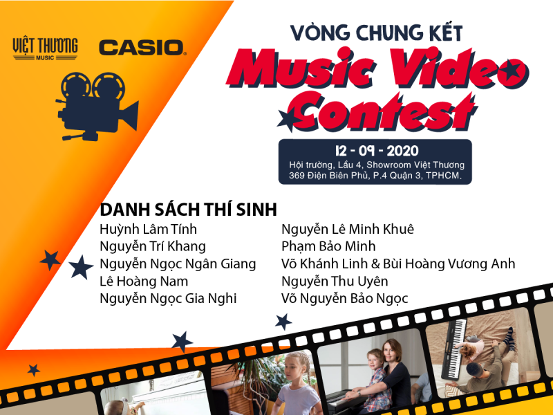 danh sách các thí sinh vào vòng chung kết piano contest