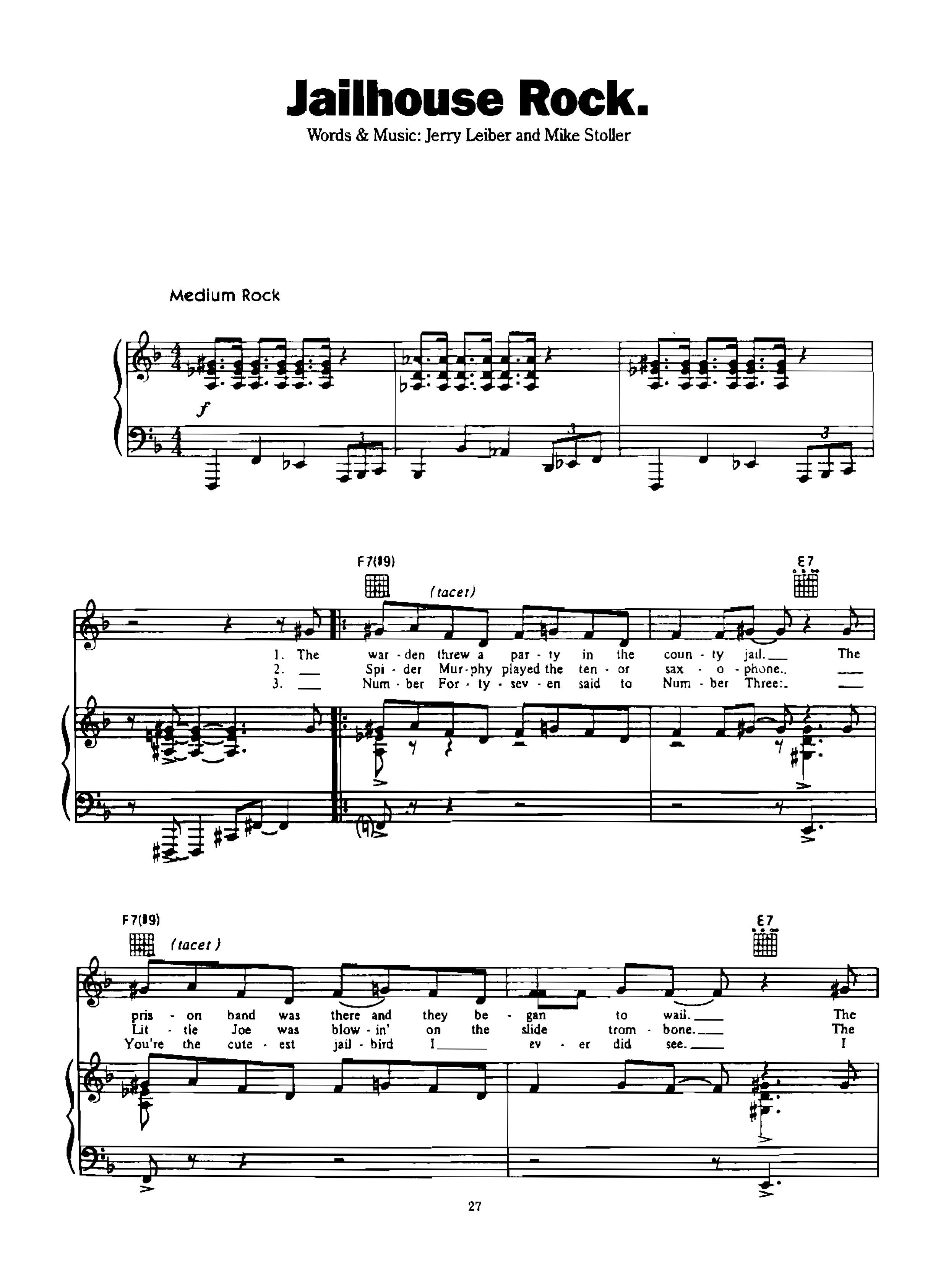 Chia sẻ: Elvis Presley với các ca khúc nổi tiếng soạn cho Piano và Guitar Jailhouse Rock