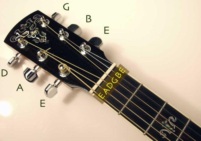 chỉnh dây đàn guitar