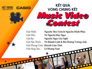 quán quân cuộc thi Music video contest