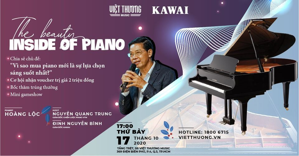 Workshop Piano: The Beauty Inside ofPiano tại HCM