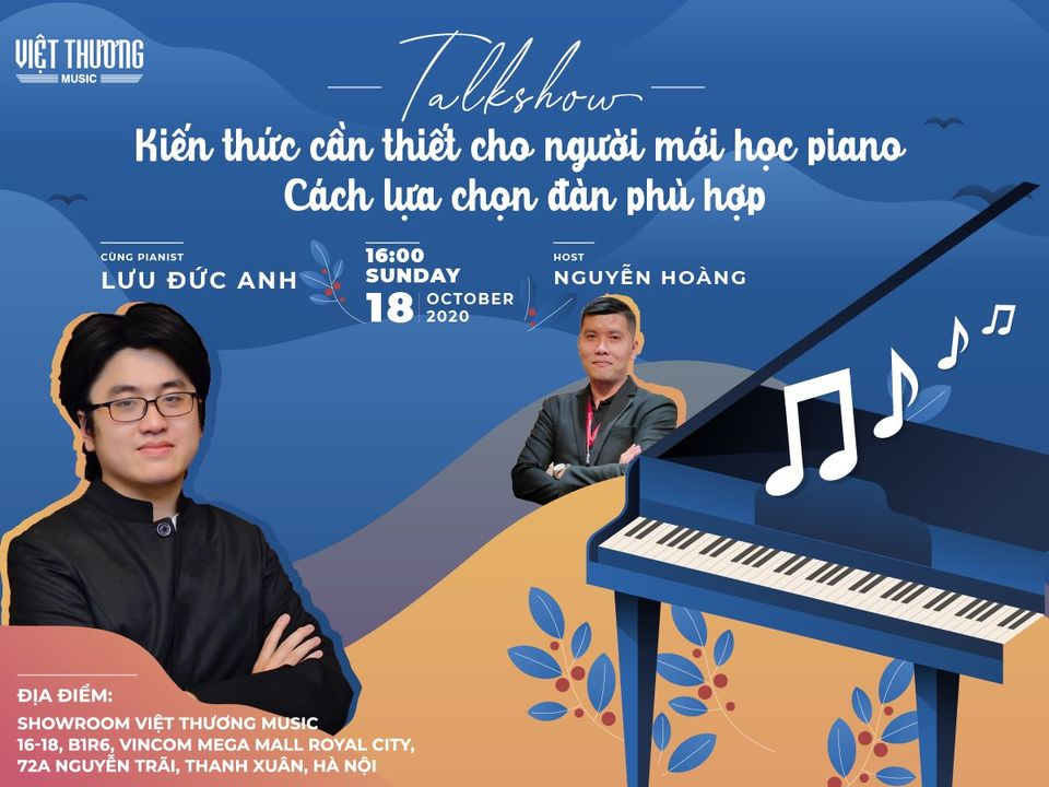 Talkshow:  Kiến thức cần thiết cho người mới học piano
