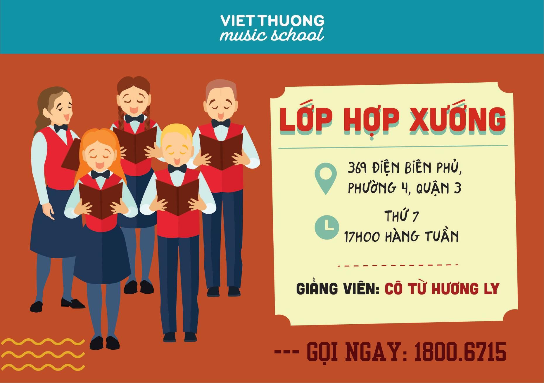 Việt Thương Music tặng 1 tháng học miễn phí lớp hợp xướng