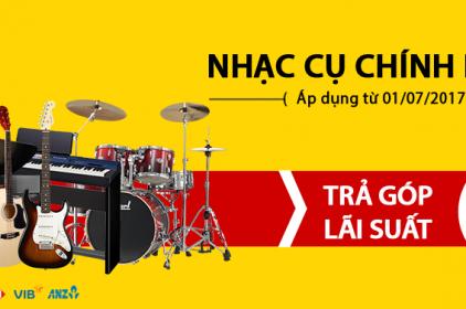Mua nhạc cụ trả góp lãi suất 0% tại Việt Thương Music