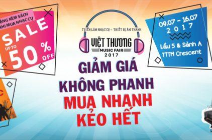 Tuần lễ triển lãm nhạc cụ âm nhạc Việt Thương Music Fair 2017