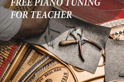 Việt Thương hỗ trợ lên dây piano miễn phí cho giáo viên Piano