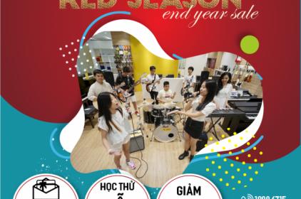 Chương trình ưu đãi học phí khủng mùa Red Season cuối năm của Trường nhạc Việt Thương