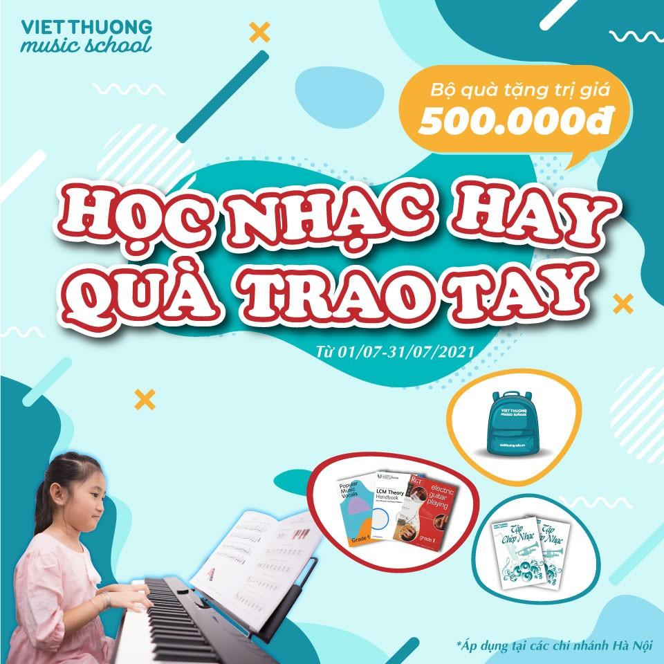 học nhạc hay quà trao tay khuyến mãi tại vietthuong music school